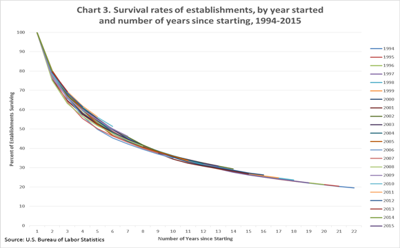 Business Survival Rates Over 20 Years